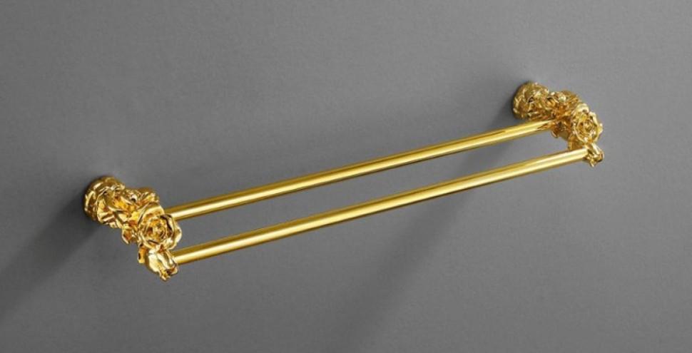 Полотенцедержатель двойной 60 см золото Art&Max Rose AM-0918-Do двойной полотенцедержатель art