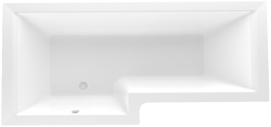 Акриловая ванна 165х85 см L Marka One linea 01лин16585л