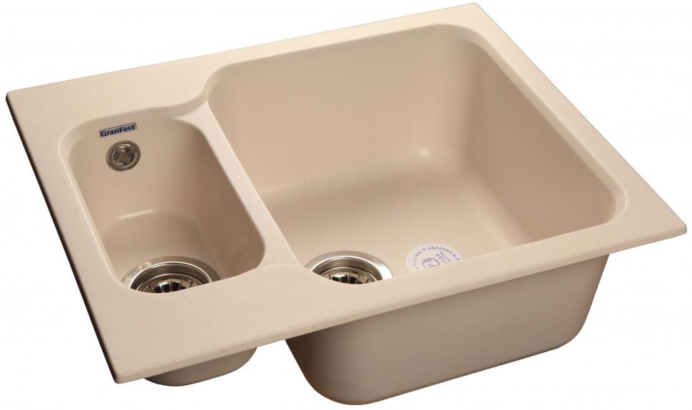 Кухонная мойка белый GranFest Standart GF-S615K