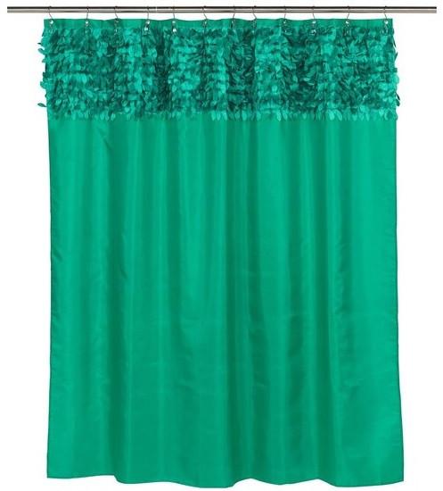 Штора для ванной комнаты Carnation Home Fashions Jasmine Emerald FSCL-JAS/90