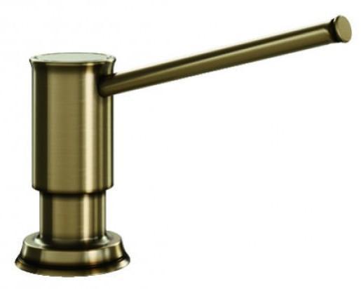 Дозатор жидкого моющего средства 500 мл Blanco Livia Полированная латунь 521292 дозатор blanco 517587