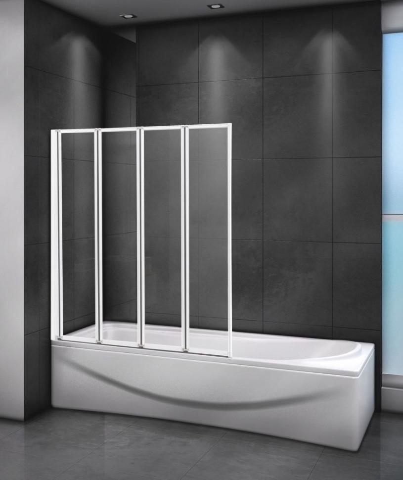 Шторка для ванны 100 см Cezares RELAX-V-4-100/140-C-Bi прозрачное