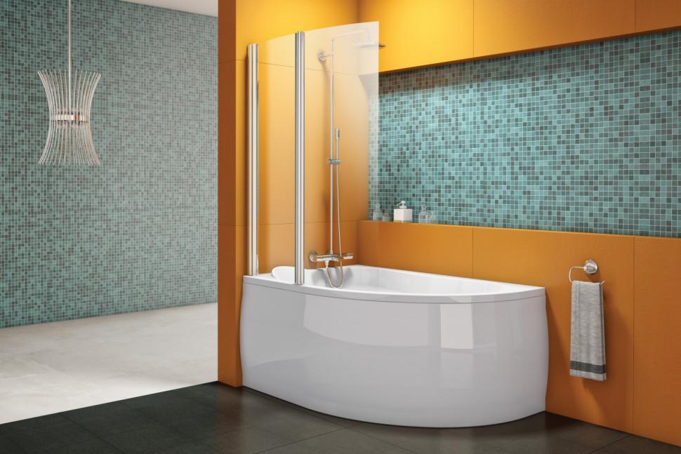 Шторка для ванны 106 см Kolpa San Sole TP 104 прозрачное