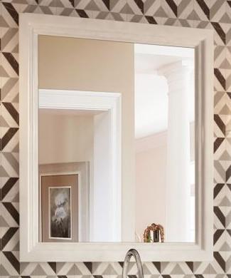 Зеркало 60х75 см белый глянец Kerama Marazzi Pompei PO.mi.60WHT вставка kerama marazzi сальветти hgd a28 tu0031l 20x20