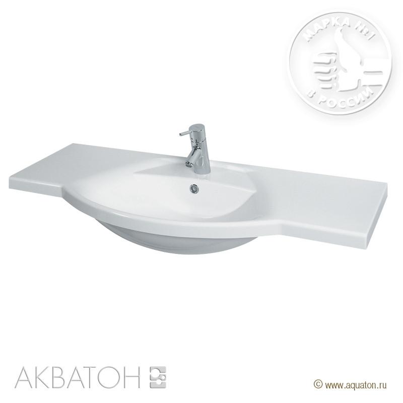 Раковина Лацио 110 см белая Акватон 1A701931LC010