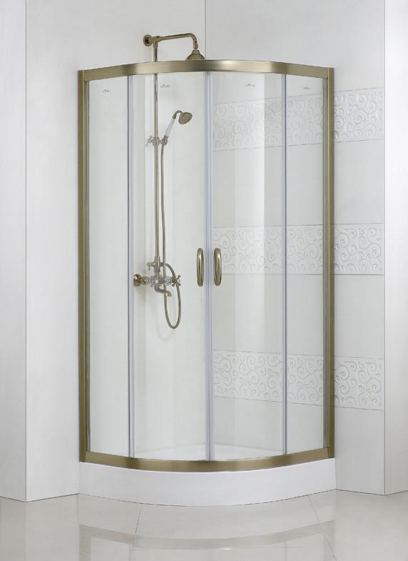 Душевой уголок Cezares Modena 90x90 см текстурное стекло MODENA-R-2-90-P-Br акриловая ванна cezares modena modena 170 70 41 170x70