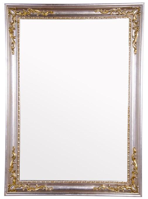 Зеркало 108х78 см серебро/золото Tiffany World TW03851arg/oro