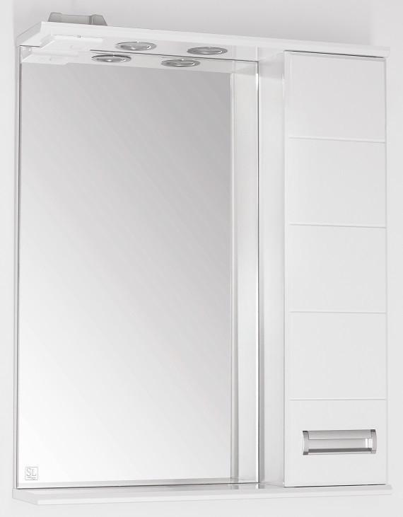 Зеркальный шкаф 65х83 см белый глянец Style Line Ирис LC-00000019