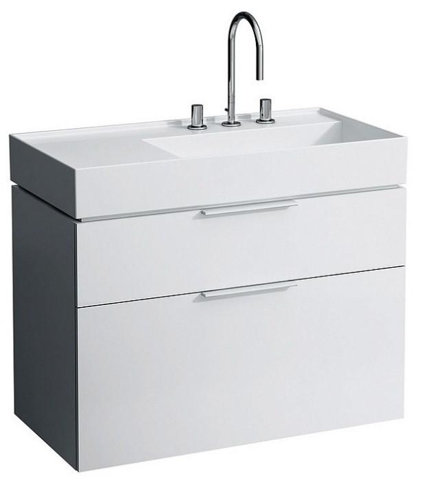 Тумба белый глянец 89,5 см 2 ящика Laufen Kartel by Laufen 4076020336311