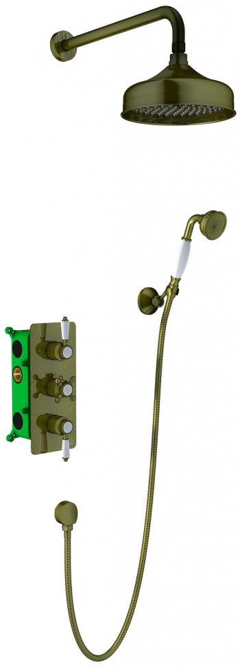 Душевой комплект 200 мм Timo Nelson SX-1391/02SM верхний душ встраиваемый timo nelson sx 1391 02sm antique бронза