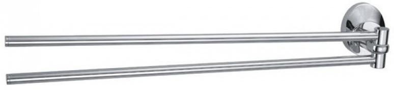 Фото - Полотенцедержатель двойной поворотный 42,5 см Fixsen Europa FX-21802A подстаканник двойной fixsen europa fx 21807