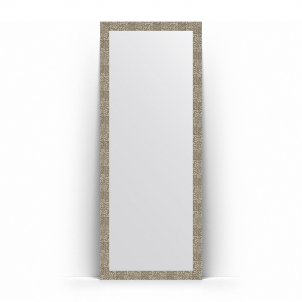 Зеркало напольное 78х197 см соты титан Evoform Definite Floor BY 6006 зеркало evoform definite floor 197х108 соты алюминий