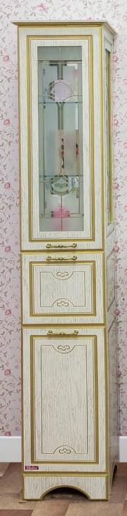 Фото - Пенал напольный белый золотая патина R Sanflor Адель H0000000646 пенал напольный белый r sanflor анкона c0000002058