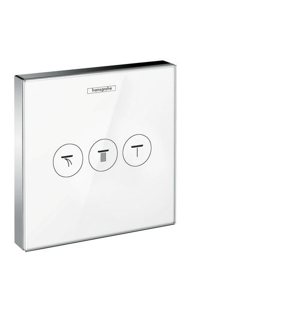 Модуль с тремя запорными клапанами Hansgrohe ShowerSelect Glass 15736400