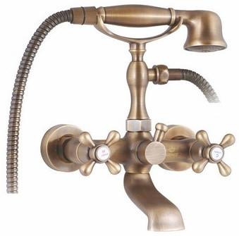 Смеситель для ванны Kaiser Carlson Style 442232ANSHAR смеситель для ванны kaiser carlson style короткий излив shar хром 44223 1 shar