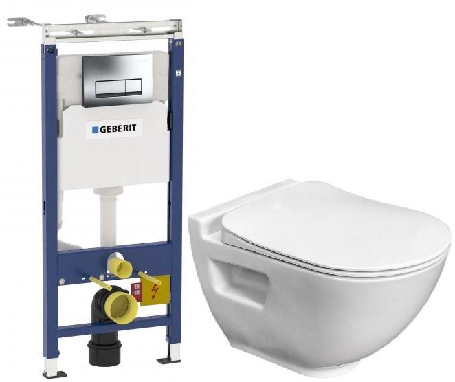 Комплект подвесной унитаз Bien Harmony HRKA052N2VP0W3000 + система инсталляции Geberit 458.125.21.1 фото