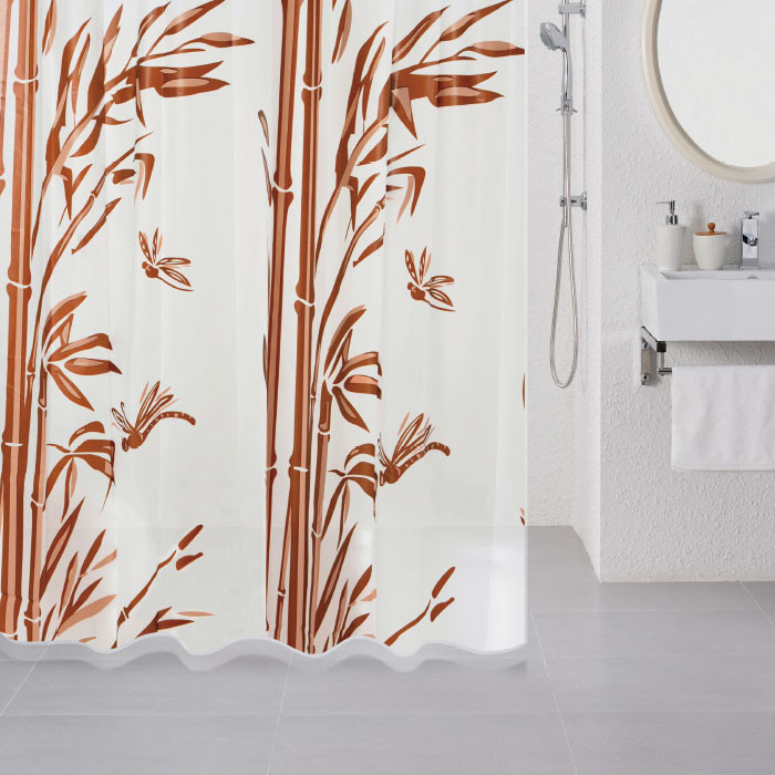 Штора для ванной комнаты Milardo Bamboo 511V180M11 штора для ванной dolphins milardo 180 180см