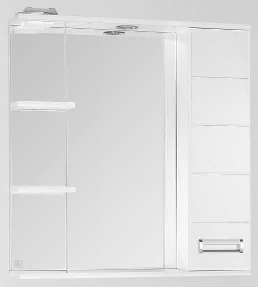 Фото - Зеркальный шкаф 75х83 см белый глянец Style Line Ирис LC-00000020 зеркальный шкаф 50х83 см венге белый глянец style line панда стиль lc 00000086