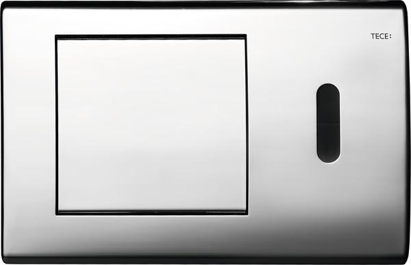 Смывная клавиша бесконтактная, питание от сети 12 В Tece TECEplanus глянцевый хром 9240353 смывная клавиша бесконтактная питание от батареи 6 в tece teceplanus нержавеющая сталь 9240350