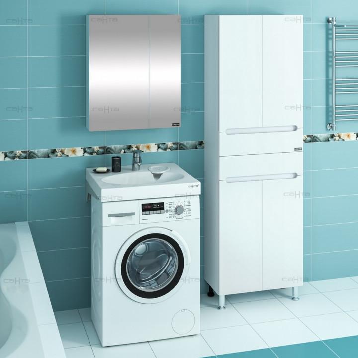 Раковина над стиральной машиной 60х54,5 см с кронштейнами Санта Луна 900111