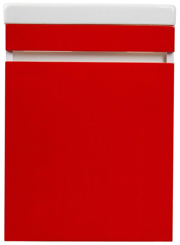 Тумба с раковиной красный глянец 40 см El Fante Compact CC00000418T цена и фото