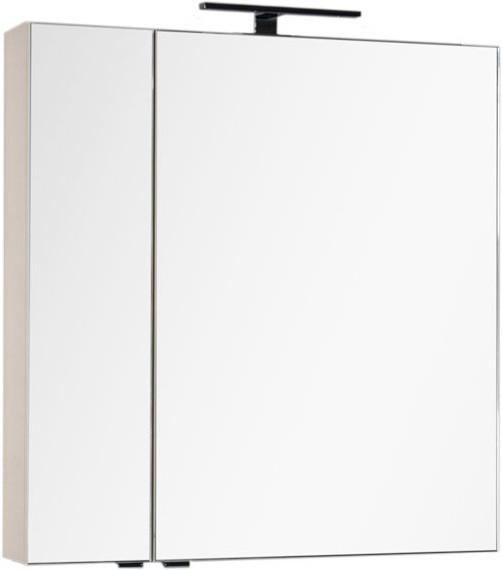 Зеркальный шкаф 79,8х85 см бежевый Aquanet Эвора 00184017 шкаф зеркало aquanet эвора 182998