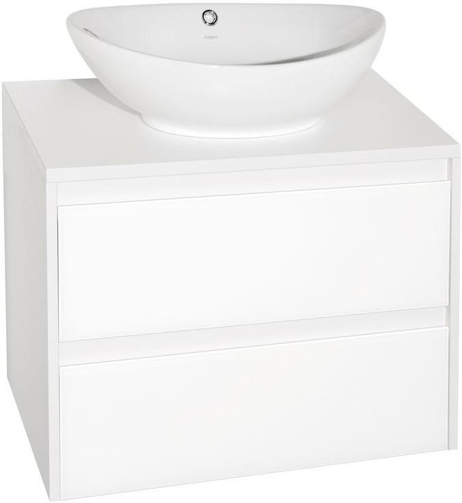 Тумба с раковиной осина белая/белый лакобель 70 см Style Line Монако LC-00000623T