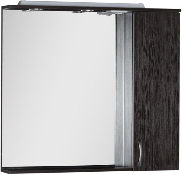 Зеркальный шкаф 100х87 см с подсветкой венге Aquanet Донна 00169185 зеркальный шкаф 90х87 см с подсветкой венге aquanet донна 00169179