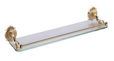 Фото - Полка стеклянная с бортиком 52 см Hayta Classic Gold 13909/GOLD блок питания accord atx 1000w gold acc 1000w 80g 80 gold 24 8 4 4pin apfc 140mm fan 7xsata rtl