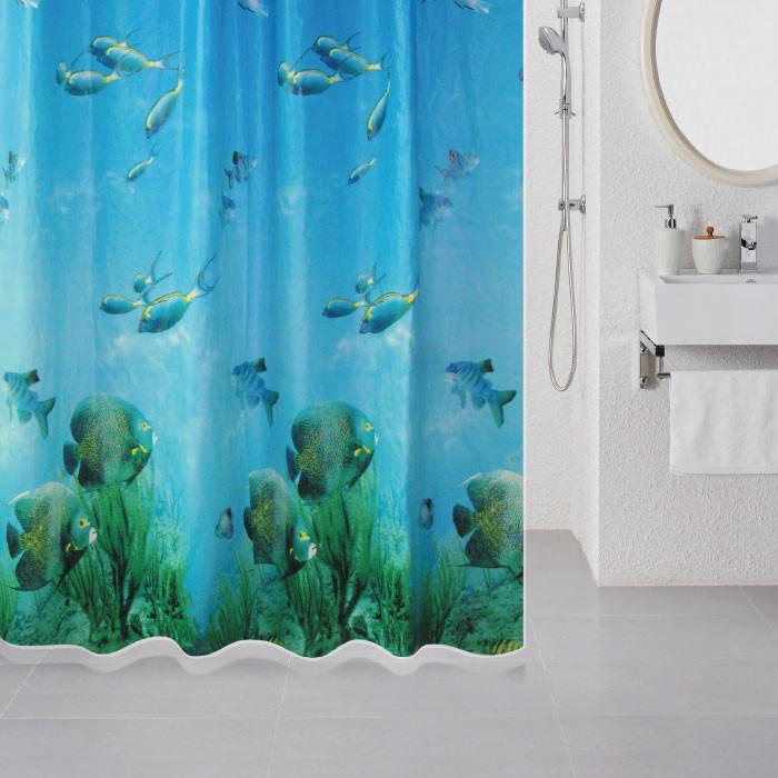 цена на Штора для ванной комнаты Milardo Underwater 518V180M11