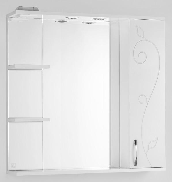Фото - Зеркальный шкаф 80х83 см белый глянец Style Line Панда Фьюжн LC-00000080 зеркальный шкаф 50х83 см венге белый глянец style line панда стиль lc 00000086