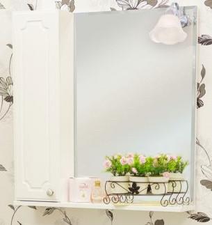 Фото - Зеркальный шкаф 70х72,8 см белый глянец L Sanflor Ксения H0000000117 тумба белый глянец 64 6 см sanflor ксения h0000000126