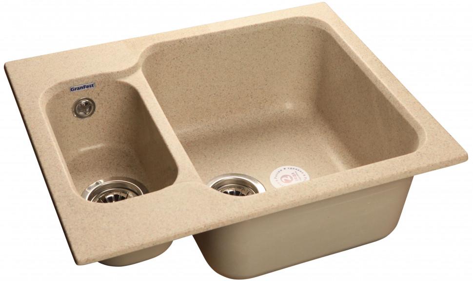 Кухонная мойка песочный GranFest Standart GF-S615K