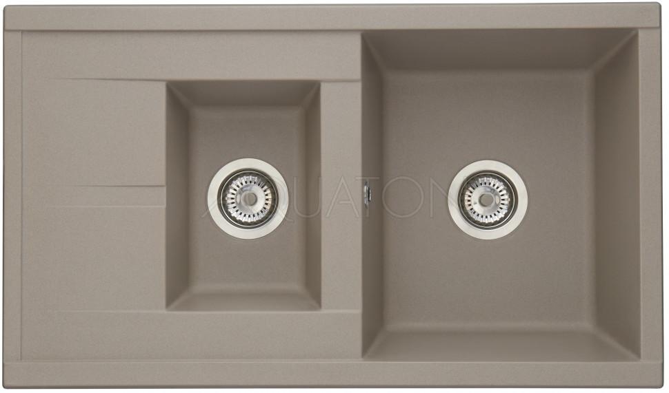 Кухонная мойка Акватон Делия серый шелк 1A716232DE250 кухонная мойка weissgauff quadro 650 eco granit серый шелк