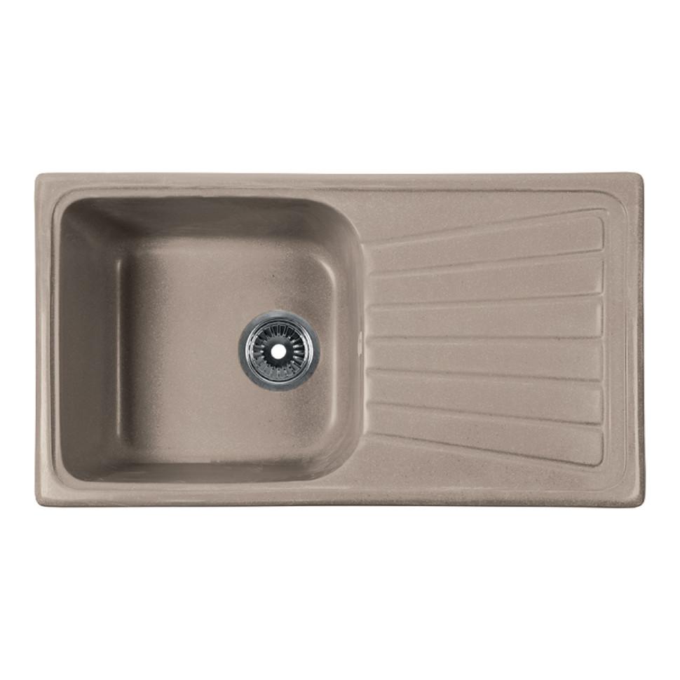 Кухонная мойка бежевый Rossinka RS81-46SW-Beige-Granite кухонная мойка бежевый rossinka rs51r beige granite
