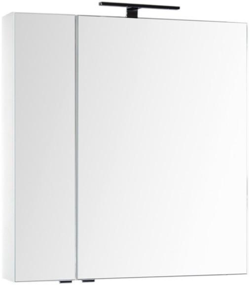 Зеркальный шкаф 79,8х85 см белый Aquanet Эвора 00184936