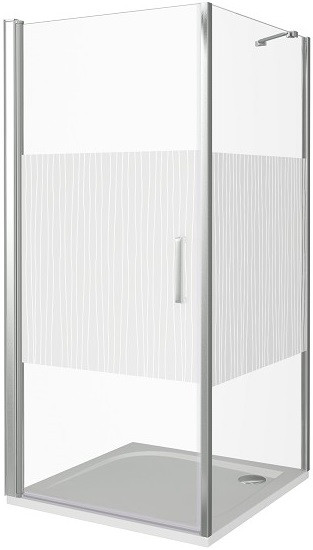 Душевой уголок 80х80 см Good Door Pandora CR-80-T-CH прозрачное с рисунком