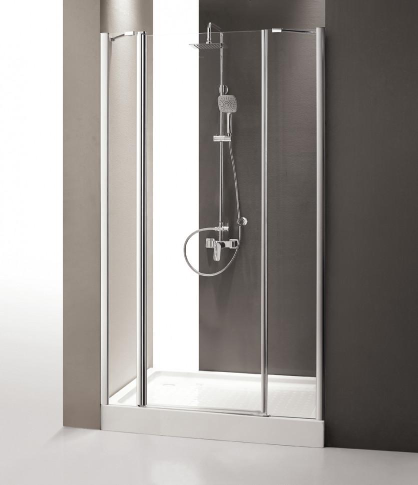 Душевая дверь распашная Cezares Triumph 130 см прозрачное стекло TRIUMPH-D-B-13-30+60/40-C-Cr-L cezares душевая дверь в нишу cezares triumph b13 80 60 30 c cr l