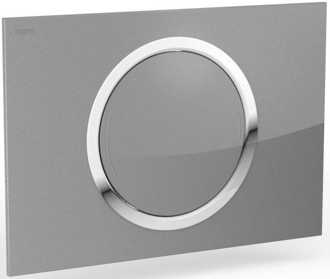Смывная клавиша Mepa Zero серебристый/глянцевый хром 421856 смывная клавиша двухрежимная глянцевый хром vitra loop r 740 0680