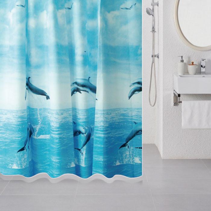 Штора для ванной комнаты Milardo Dolphins 519V180M11 цена и фото