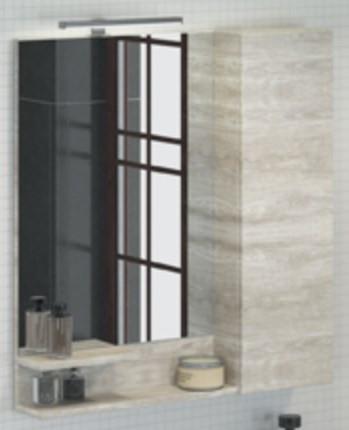 Зеркальный шкаф 75х80 см дуб белый Comforty Верона 00004137100 зеркальный шкаф comforty кёльн 88 дуб темный 00004147987