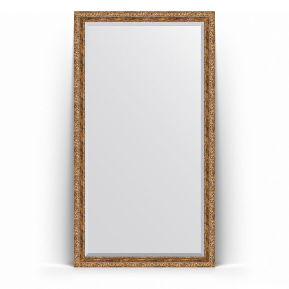 Фото - Зеркало напольное 110х200 см виньетка античная бронза Evoform Exclusive Floor BY 6154 зеркало напольное с фацетом evoform exclusive floor 80x200 см в багетной раме виньетка античная бронза 85 мм by 6114