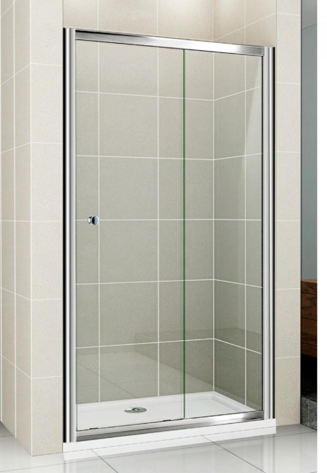 цена на Душевая дверь раздвижная Cezares Pratico 115 см прозрачное стекло PRATICO-BF-1-115-C-Cr