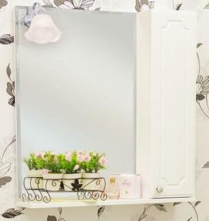 Зеркальный шкаф 70х72,8 см белый глянец R Sanflor Ксения H0000000118 баштовая ксения николаевна пыль дорог