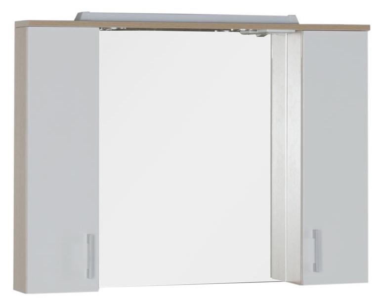 Зеркальный шкаф 100х74,6 см светлый дуб/белый Aquanet Тиана 00172806 комплект мебели aquanet тиана 100 с б к цвет светлый дуб фасад белый