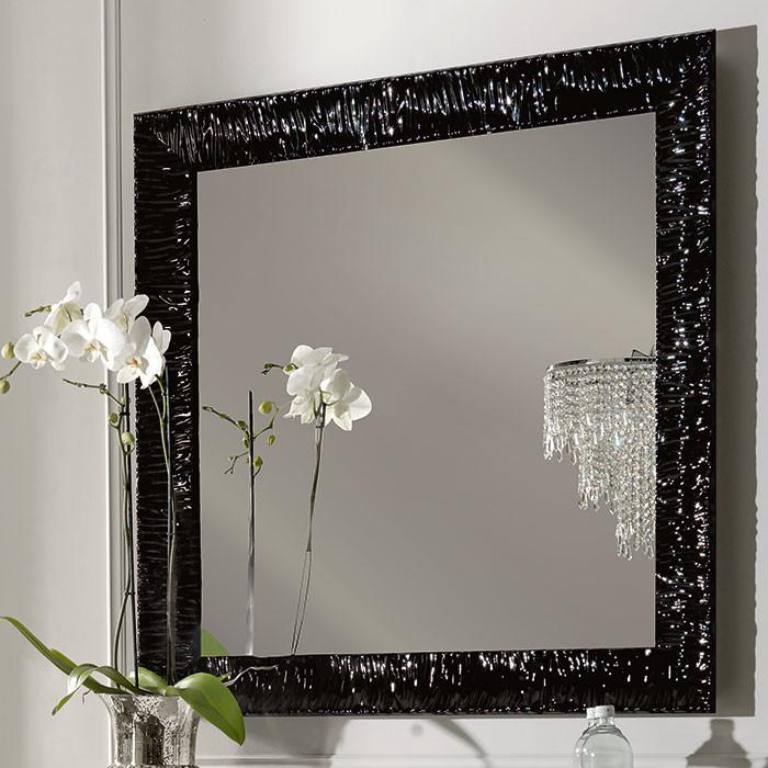 Зеркало 100х100 см черный глянец Kerasan Retro 736401nero