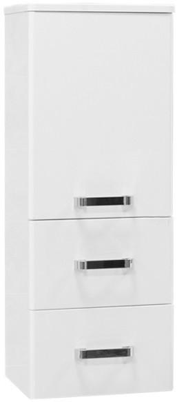 Полуколонна подвесная белый Америна Aquaton 1A137803AM010 шкаф колонна подвесная америна тёмно коричневая aquaton 1a135203am430