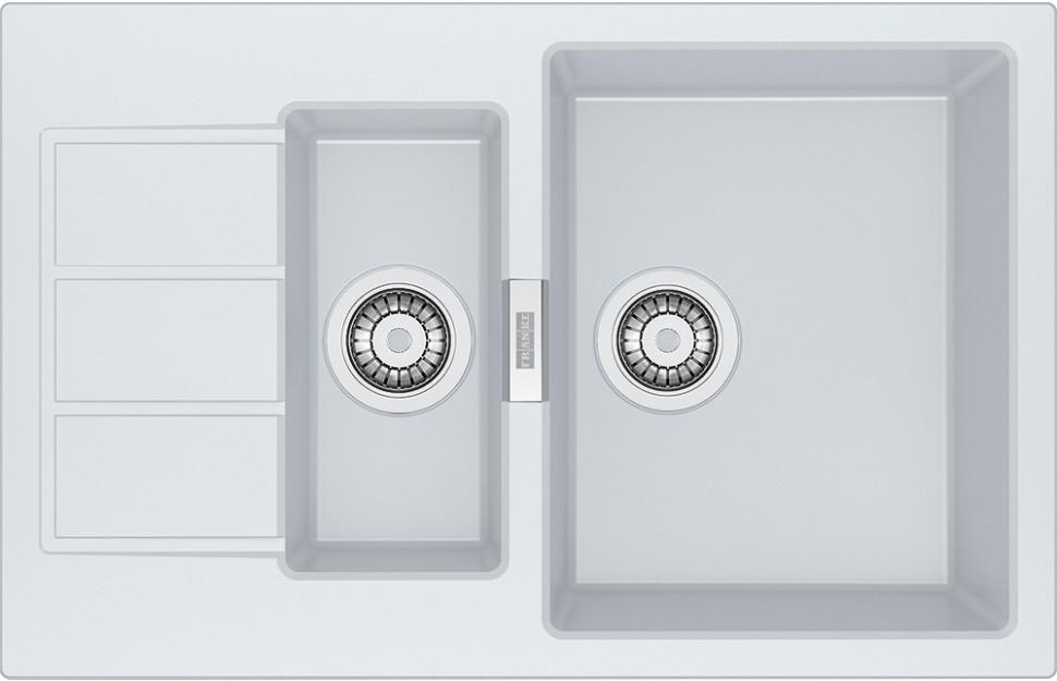 Кухонная мойка Tectonite Franke Sirius SID 651-78 полярный белый 114.0489.220 мойка franke cog 651 белая
