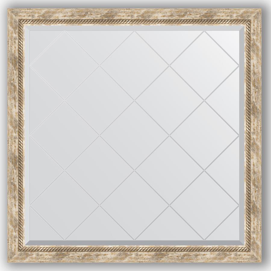 Зеркало 103х103 см прованс с плетением Evoform Exclusive-G BY 4435