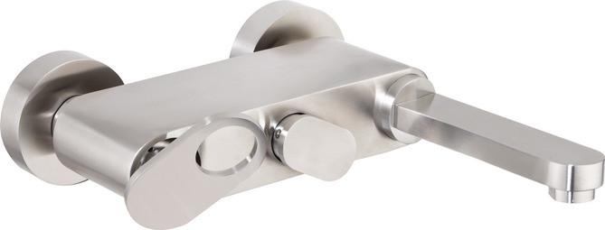 Смеситель для ванны сатин, ручка сатин Cezares Butterfly BUTTERFLY-VM-04 смеситель для ванны tsarsberg ручка 1202 ис 240051